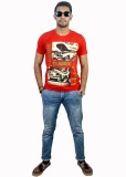 Live Green Graphic Print Men's Round Nec...