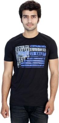 Filimore Graphic Print Men's Round Neck Black T-Shirt