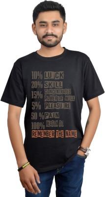 SWAG Theory Printed Men's Round Neck Black T-Shirt