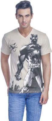 Batman Printed Men,s V-neck White T-Shirt