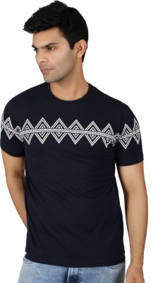 Easies Printed Men's Round Neck Blue T-Shirt