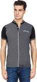 Four Square Printed Men's Henley Black T...