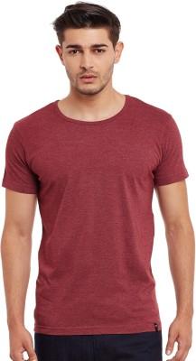 The Vanca Solid Men's Round Neck Maroon T-Shirt