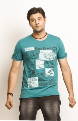 Everyuth Solid Men's Round Neck Green T-Shirt