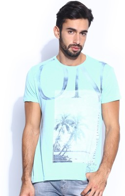 GAS Printed Men's Round Neck T-Shirt
