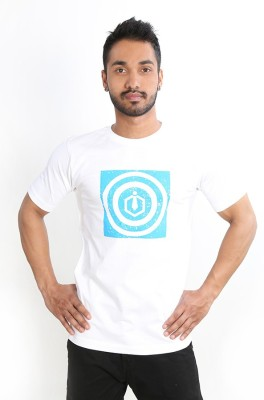 Just Differ Graphic Print Men's Round Neck White T-Shirt