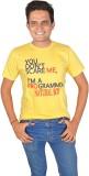 Natural Printed Men's Round Neck Yellow ...