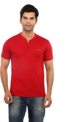 GOT IT Solid Men's Henley Red T-Shirt