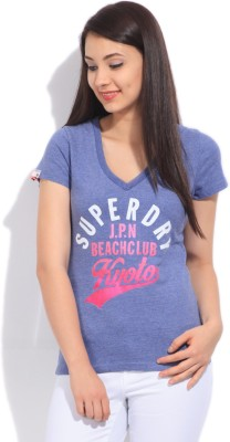 Superdry Printed Women's V-neck T-Shirt