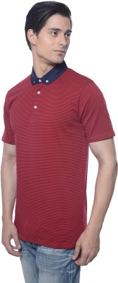 Carve Striped Men's Polo Neck Red T-Shirt