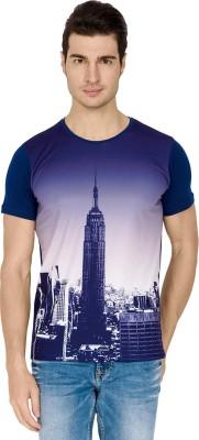 Street Fuel Printed Men's Round Neck Multicolor T-Shirt