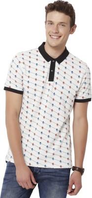 Chumbak Printed Men's Polo Neck T-Shirt