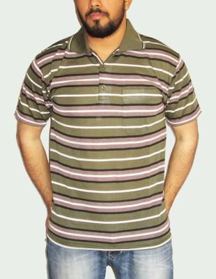 GouGas Striped Men's Polo Neck T-Shirt