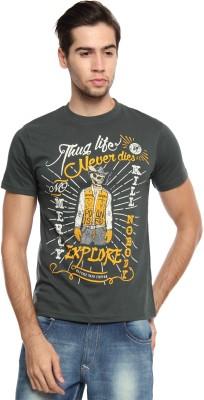Zovi Graphic Print Men's Round Neck Green T-Shirt