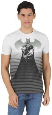 Batman Printed Men,s Round Neck White, Grey T-Shirt