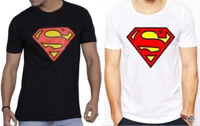 Sprat Graphic Print Men's Round Neck Black, White T-Shirt
