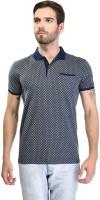 T Shirts (Men's) - OCTAVE Printed Men's Polo Blue T-Shirt