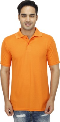 Ishmeet Solid Men's Polo Orange T-Shirt