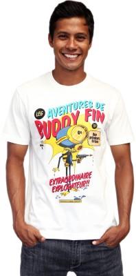 Contraband Graphic Print Men's Round Neck White T-Shirt