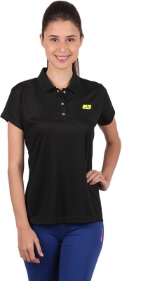 Vector X Solid Womens Polo Neck T-Shirt