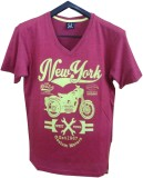 Rools Printed Men's V-neck Pink T-Shirt