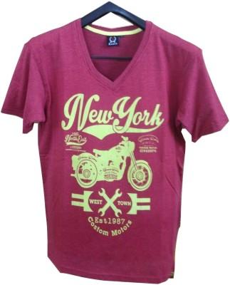 Rools Printed Men's V-neck T-Shirt