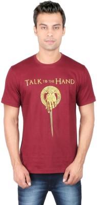 Redwolf Graphic Print Men's Round Neck Maroon T-Shirt