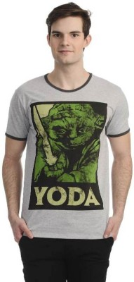 Star Wars Printed Men's Round Neck Grey T-Shirt