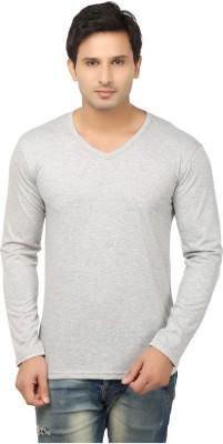 Lowcha Solid Men's V-neck T-Shirt