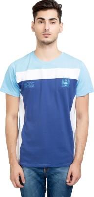 Manchester City FC Solid Men's Round Neck Dark Blue T-Shirt