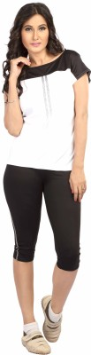 Being Responsible Self Design Women's Round Neck White T-Shirt