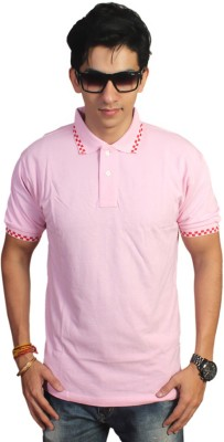 EPG Solid Men's Polo Pink T-Shirt
