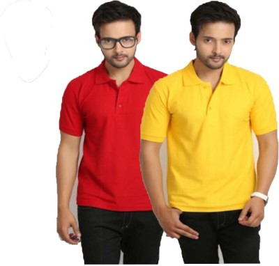 UNO COTTON Solid Men's Polo Neck T-Shirt