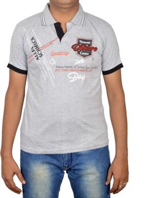 Revinfashions Applique Men's Polo Reversible Grey T-Shirt