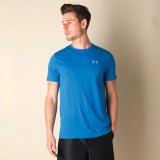 Under Armour Solid Men's Polo Neck Blue ...