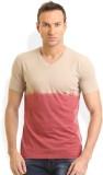 HW Solid Men's Round Neck Maroon T-Shirt