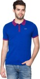Fort Collins Solid Men's Polo Neck Blue ...