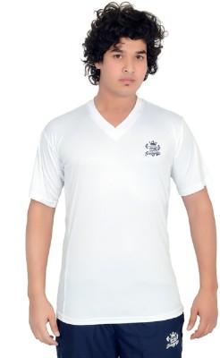 SHREDDED PROPHYSIQUE Solid Men's V-neck White T-Shirt