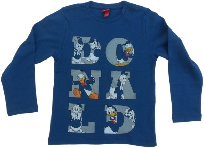 Kuddle Kid Printed Boy's Round Neck Blue T-Shirt