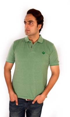 Maggivox Solid Men's Polo Green T-Shirt
