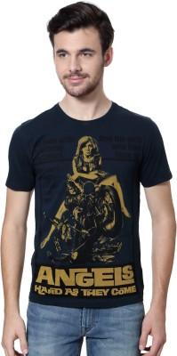 Van Heusen Graphic Print Men's Round Neck Dark Blue T-Shirt