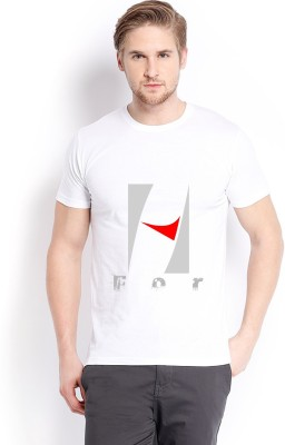 Trendster Printed Men's Round Neck White T-Shirt