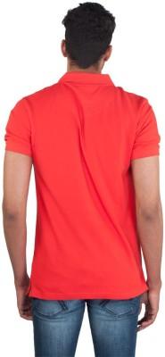 Provogue Solid Men's Round Neck Orange T-Shirt