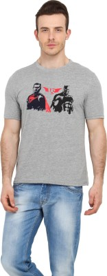 Filmwear Graphic Print Men's Round Neck Grey T-Shirt