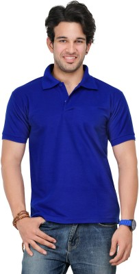 TSX Sportsman Solid Men's Polo Blue T-Shirt