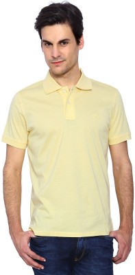 Allen Solly Solid Men's Polo Neck Yellow T-Shirt