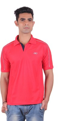 EX10 Solid Men,s Polo Neck Red T-Shirt