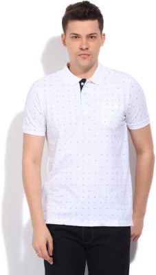 Easies Printed Men's Polo White T-Shirt