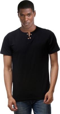 Hemd London Solid Men's Henley Black T-Shirt