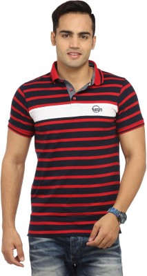 Byrock Striped Men's Polo Neck Reversible Multicolor T-Shirt